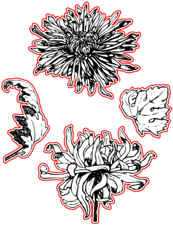 TAD0280 vintage floral dies