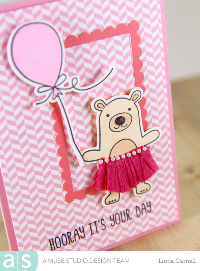 A Muse Studio Time to Party pink bear a