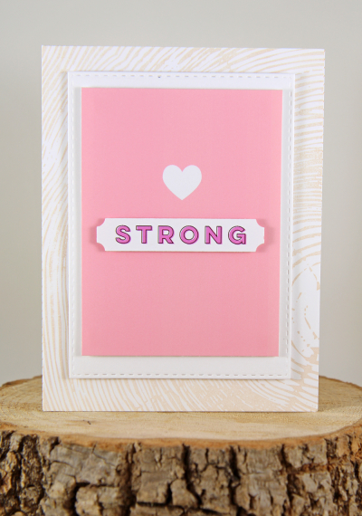 A Muse Studio Fight Like A Girl Digit Kit - heart strong