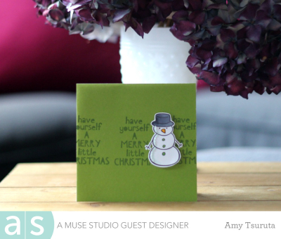 Merry little christmas by Amy Tsuruta for A Muse Studio