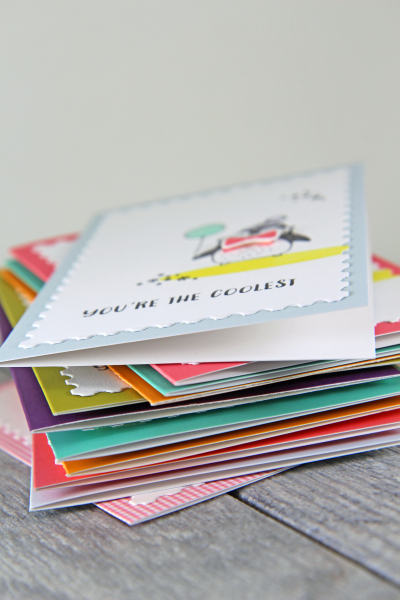 A Muse Studio stack of handmade cards