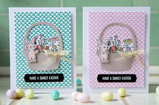 A Muse Studio Sweet Easter basket pair HZ
