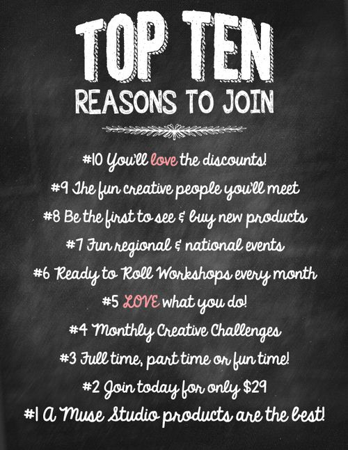 Top ten reasons to join as