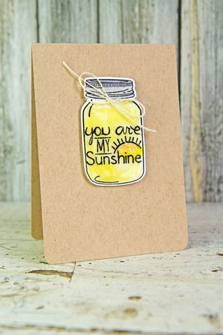 A Muse Studio Mason Jar Be Brave You are My Sunshine