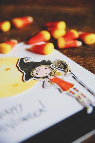 A Muse Studio Spooky Girlfriend - witch in orange