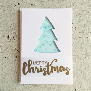 A Muse Studio Holiday Cheer - Die Cut Tree phone