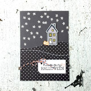 A Muse Studio halloween In our town night card
