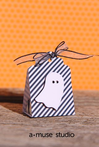 A Muse Studio Spooky Trio striped Candy Package