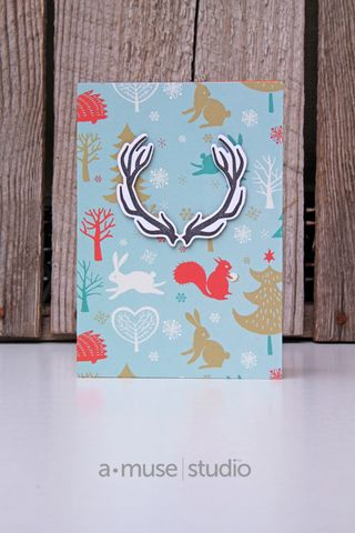 A Muse Studio November 15 Collection - Hello Deer on 6x6 forest