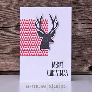 A Muse Studio November 15 Collection - Hello Deer Happy Holidays rudolph