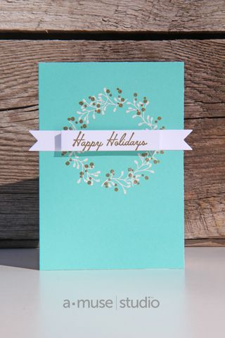 A Muse Studio Especially For You Festive Wreaths Card