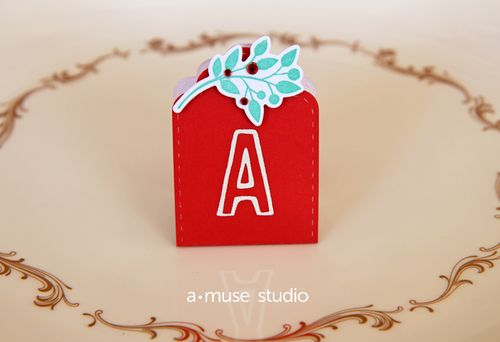 A Muse Studio Five Points Alphabet Place card
