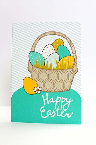 Tulips Easter Basket Card