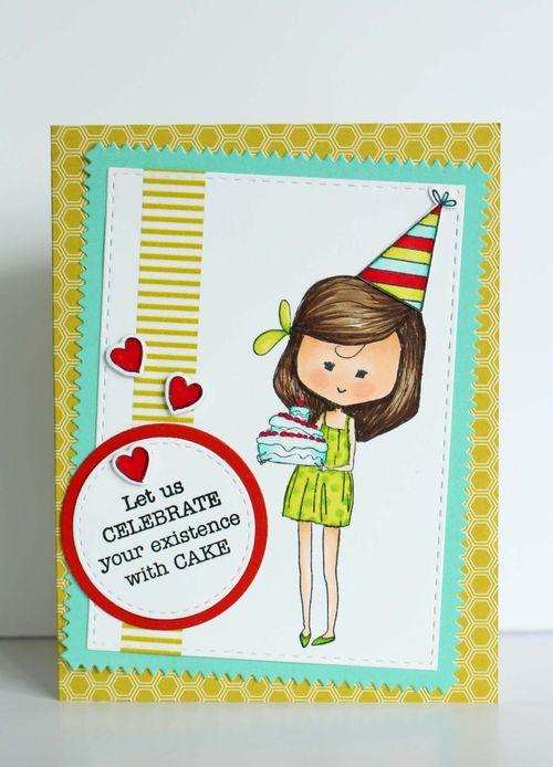 Birthday Girlfriend Celebrate with Cake