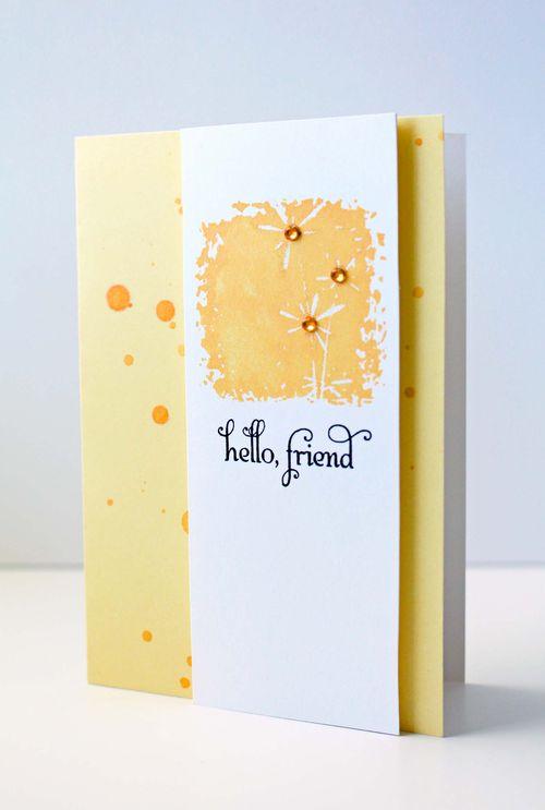 Floral Blocks Splash Card