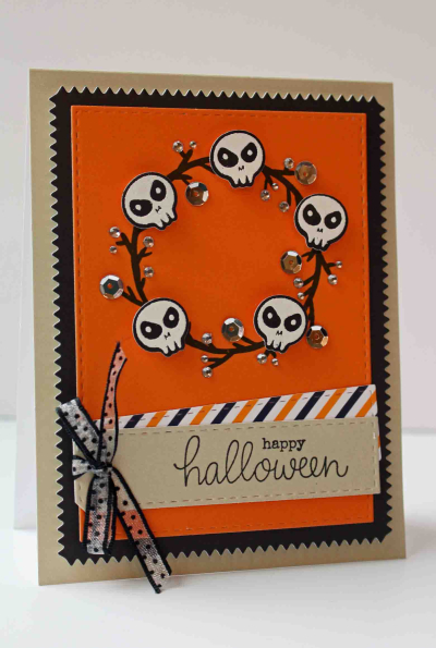 Autumn Wishes Skull Card