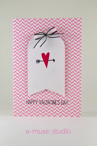 A Muse Studio Love Story heart and arrow Card