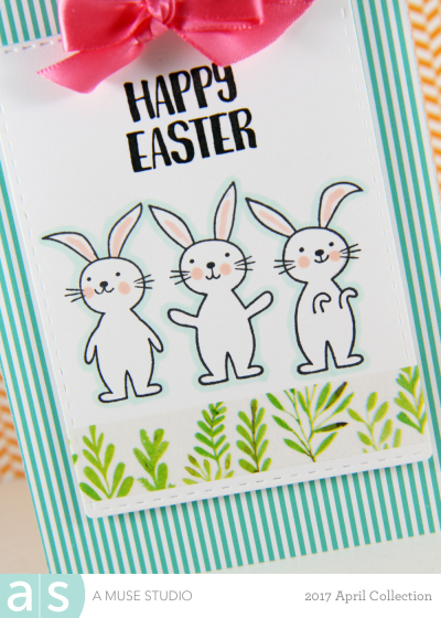 A Muse Studio Sweet Easter 3 bunnies on a tag zoom