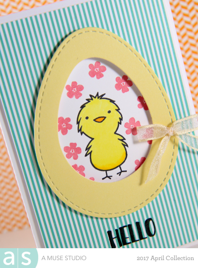 A Muse Studio Happy Spring Chick in stitched egg dies zoom