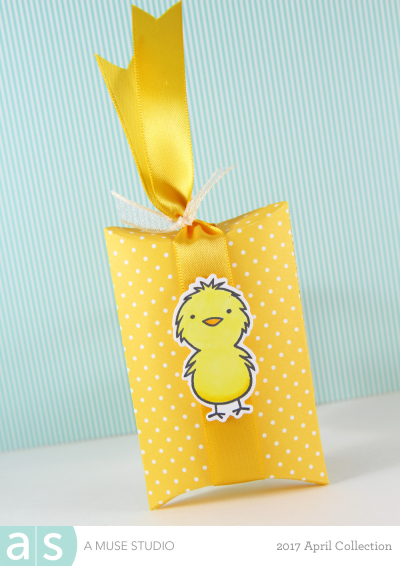 A Muse Studio Happy Spring pillow box chick