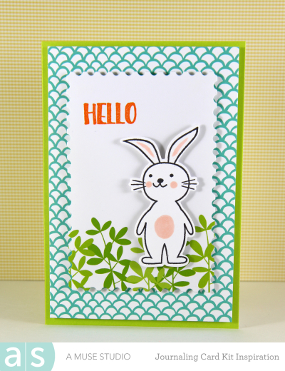 A Muse Studio Welcome Spring Digi Kit - leafy green bunny