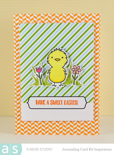 A Muse Studio Welcome Spring Digi Kit - stripes with chick