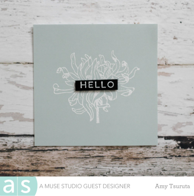 Vintage Floral Hello by Amy Tsuruta for A Muse Studio