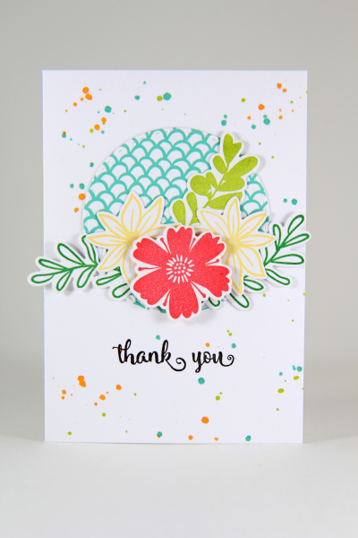 A Muse Studio Summer Blooms compilation on sugar splash background full card