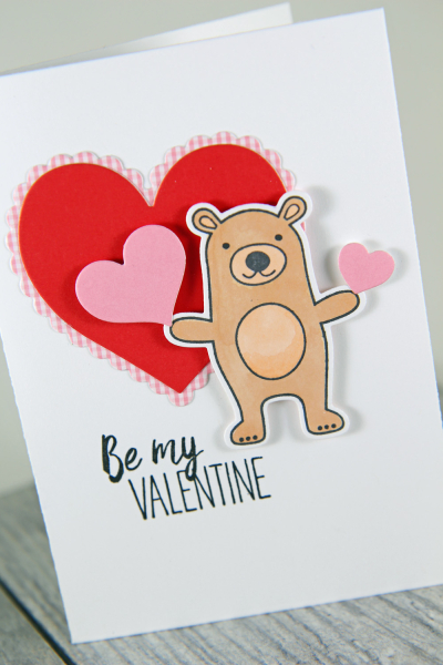 A Muse Studio Party Time Brown Bear two hearts