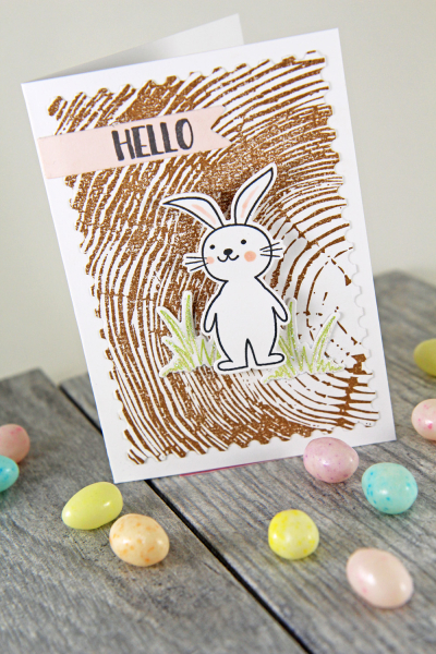 A Muse Studio Happy Spring Hello on Cocoa Redwood VT